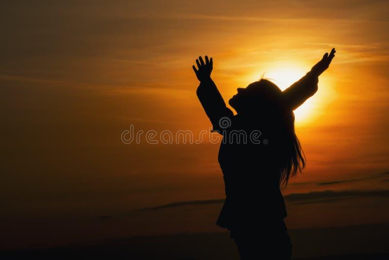 Заход солнца коренного американца стоковое фото rf