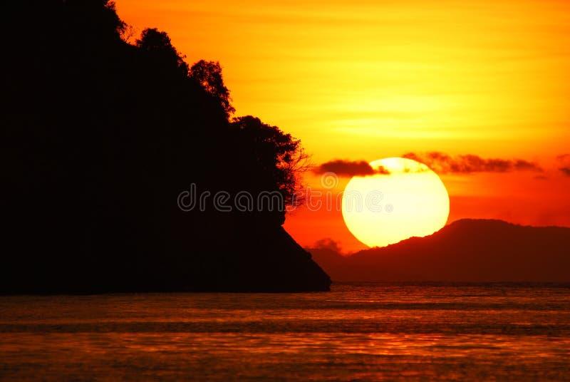 заход солнца крупного плана стоковая фотография