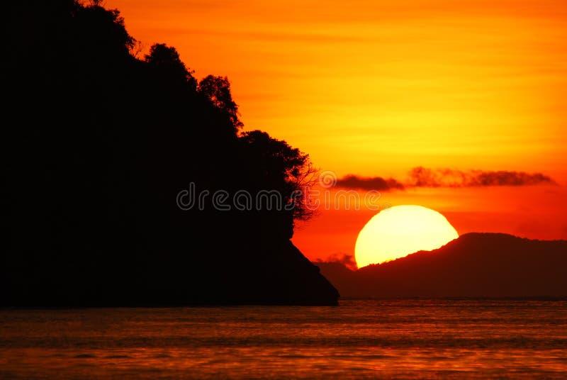 заход солнца крупного плана стоковое фото