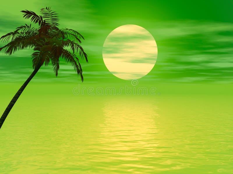 заход солнца ладони иллюстрация вектора