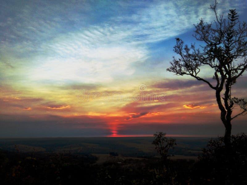 Заход солнца ландшафта стоковые изображения