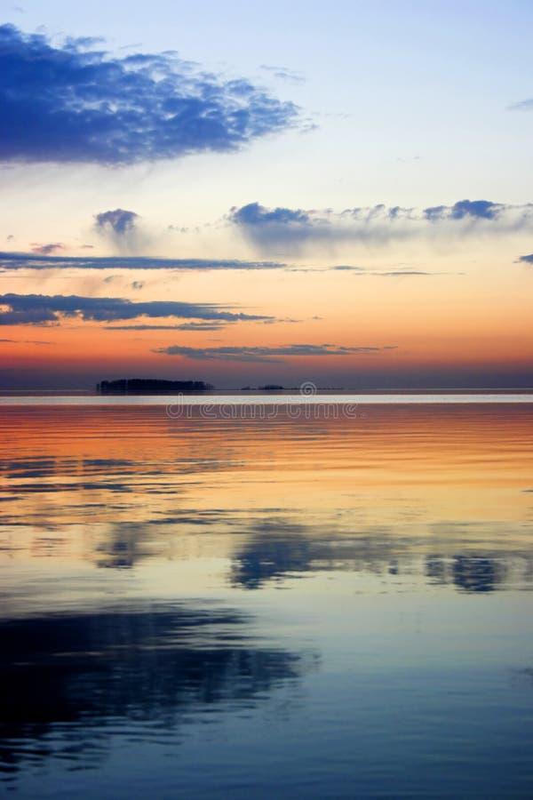 Заход солнца лета стоковое изображение rf