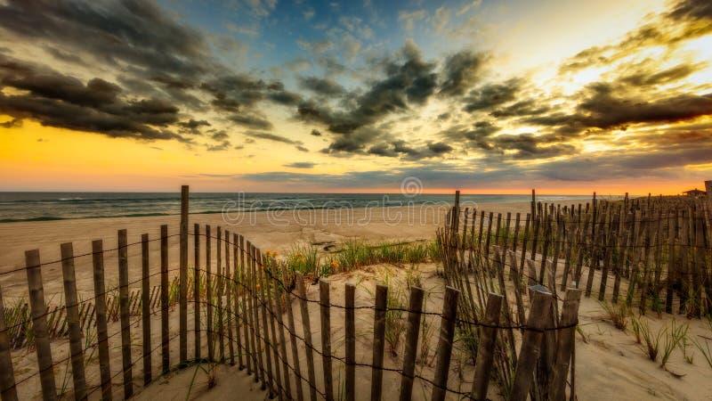 Заход солнца Лонг-Айленд стоковые изображения rf