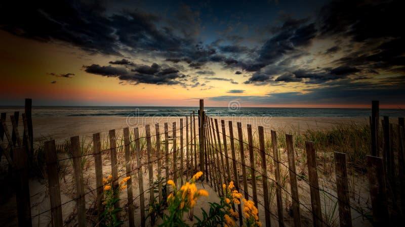 Заход солнца Лонг-Айленд стоковое изображение