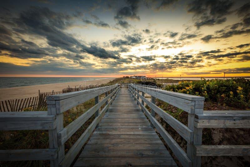 Заход солнца Лонг-Айленд стоковая фотография