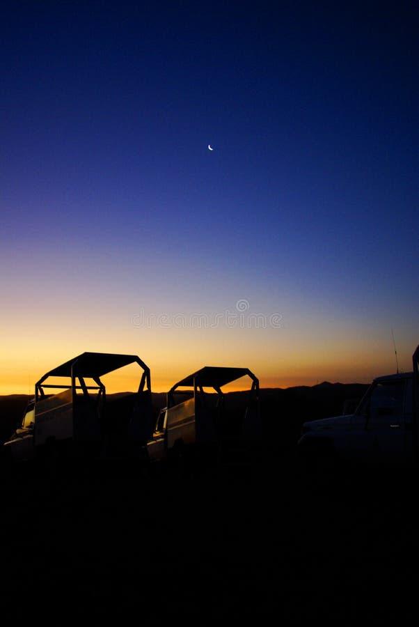 заход солнца луны виллисов стоковая фотография