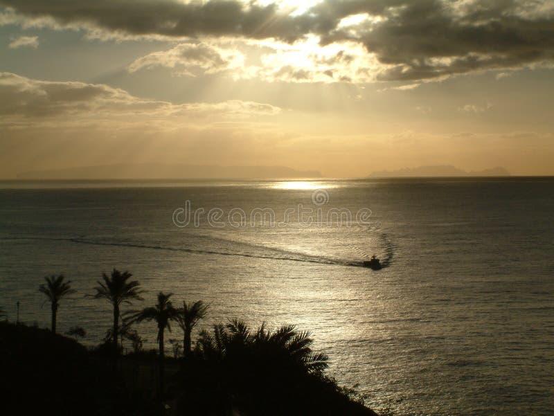 заход солнца Мадейры стоковое фото rf
