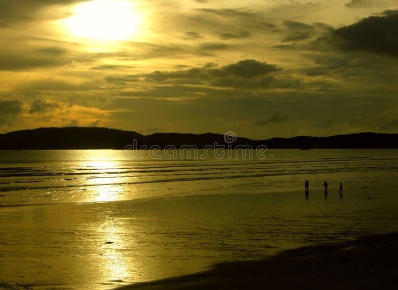 заход солнца мистика i стоковая фотография
