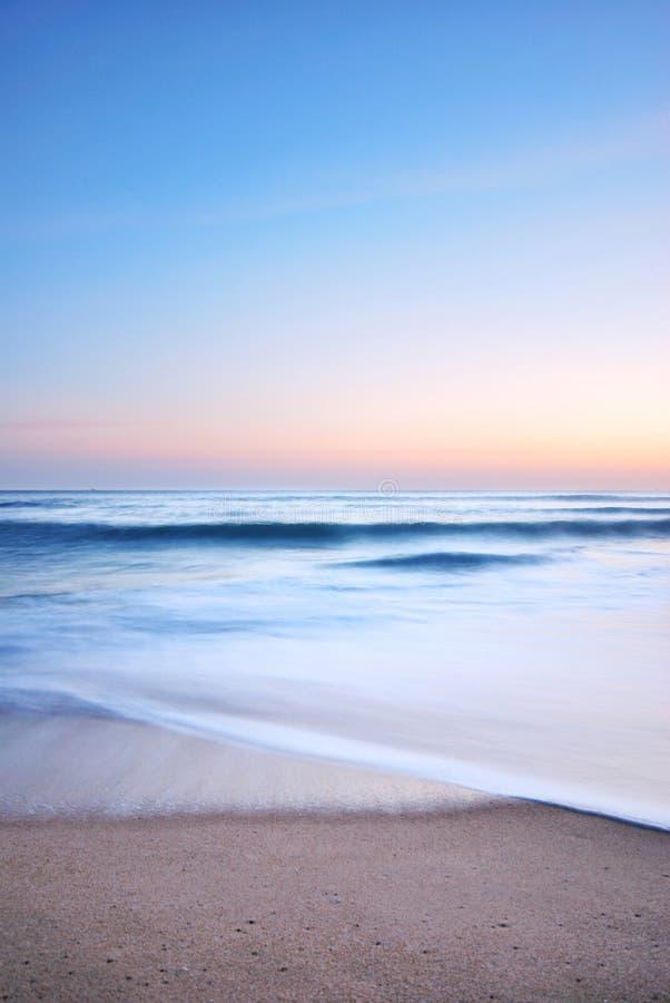 заход солнца моря стоковое изображение rf