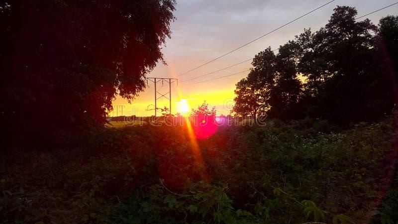 Заход солнца-наблюдать стоковая фотография rf