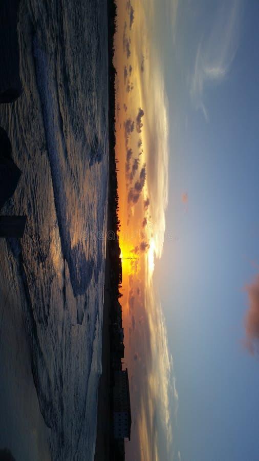 Заход солнца над жизнью стоковые изображения rf
