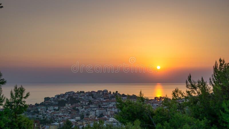 Заход солнца над Marmaras стоковое фото