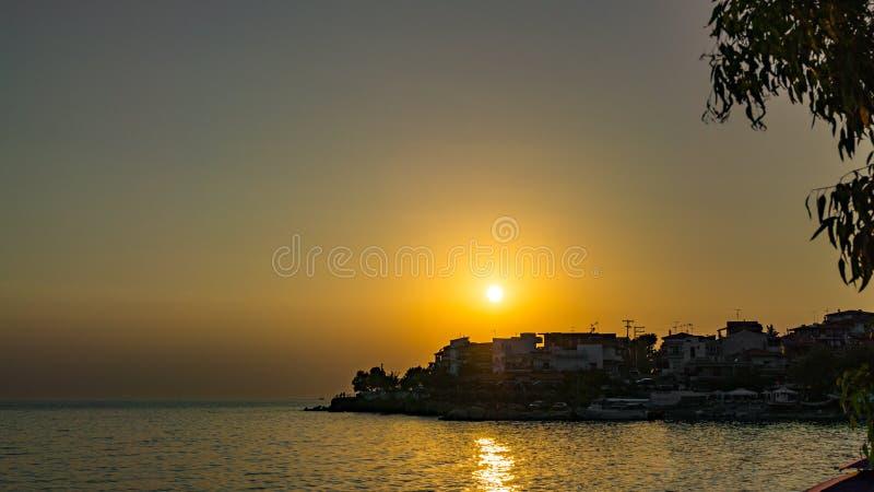 Заход солнца над Marmaras стоковая фотография