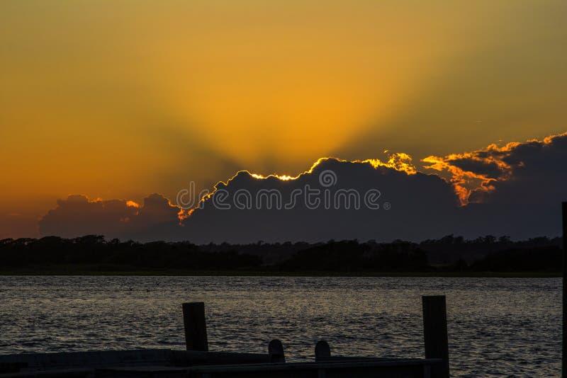 Заход солнца на верхнем ветриле стоковое изображение