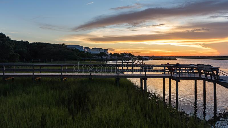 Заход солнца на входе восточного побережья стоковые изображения