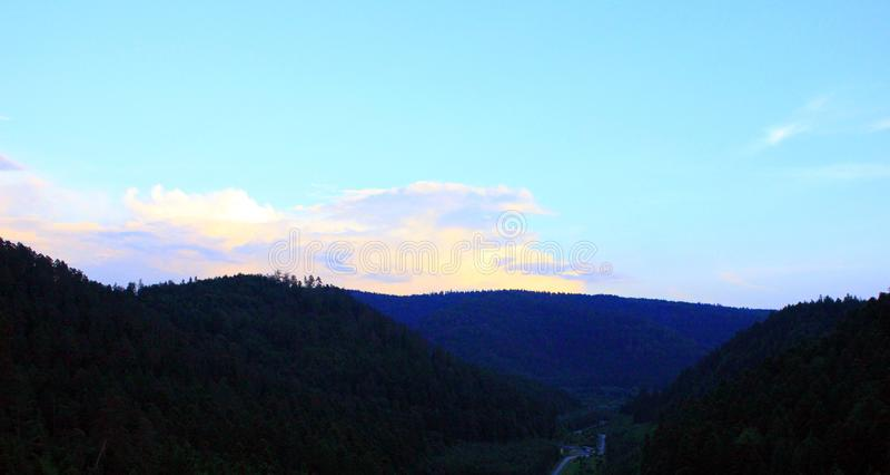 Заход солнца на озере percee pierre стоковые фото