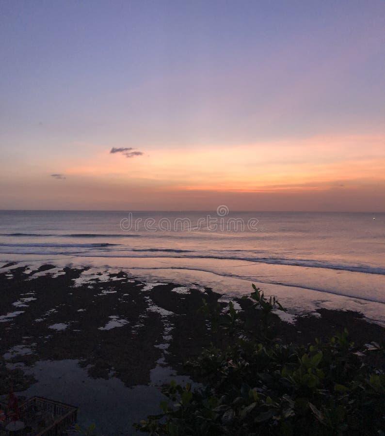 Заход солнца на острове Gili Trawangan, Lombok, Индонезии стоковая фотография
