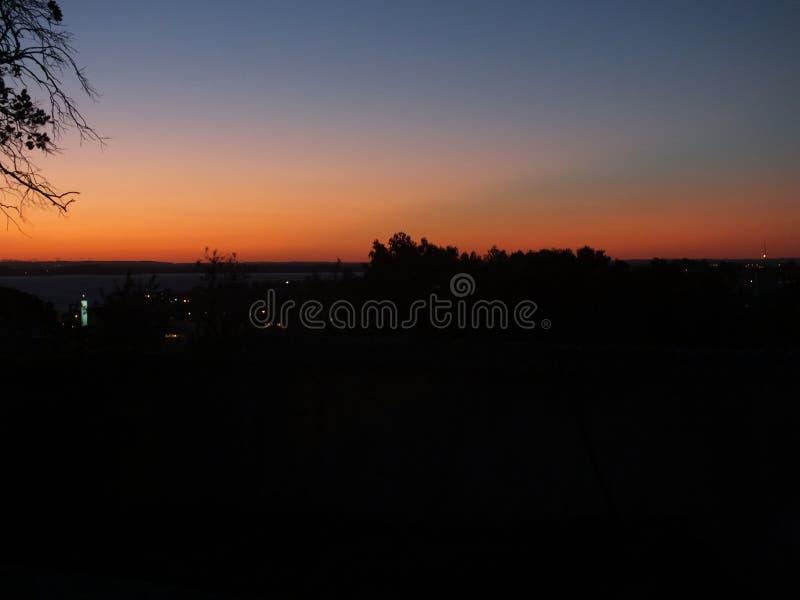 Заход солнца на Порту-Алегри, Rio Grande do Sul, Бразилии стоковое изображение