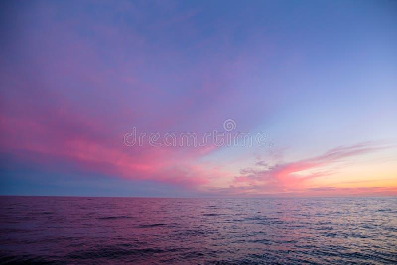 Заход солнца на севере Ночь Greenlands стоковое изображение rf
