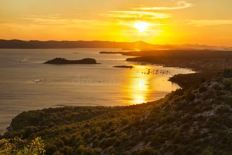 Заход солнца на точке зрения ÄŒelinka стоковая фотография