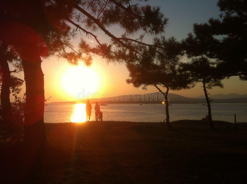 Заход солнца на Чёрном море стоковая фотография rf