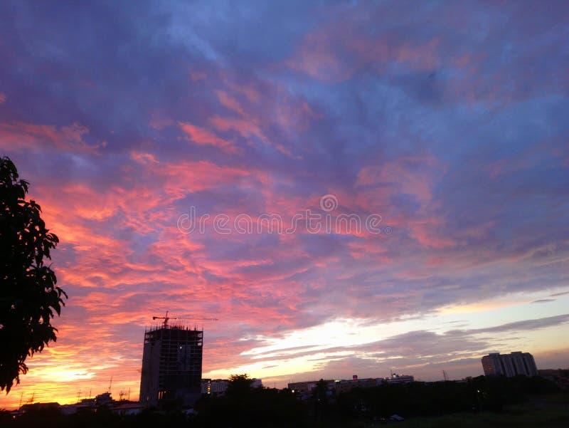 Заход солнца на юге стоковая фотография