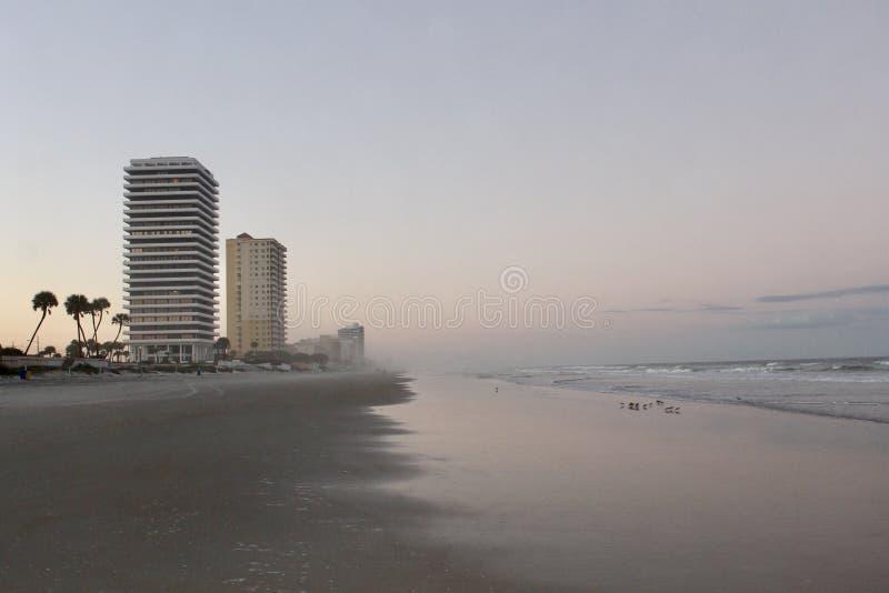 Заход солнца на Daytona Beach стоковые фотографии rf