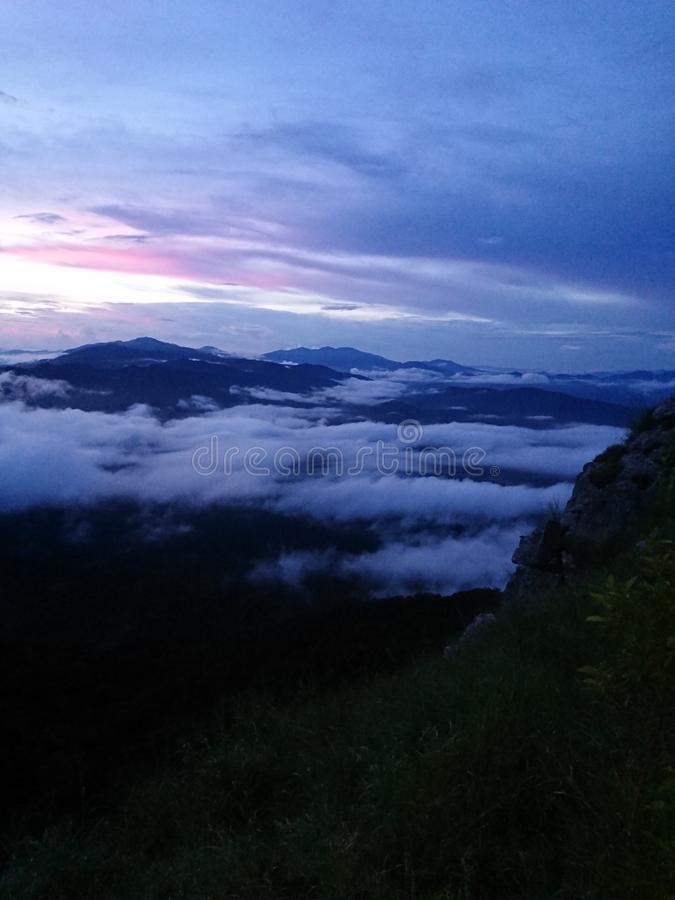 Заход солнца на Doi Luang Tak стоковое изображение rf