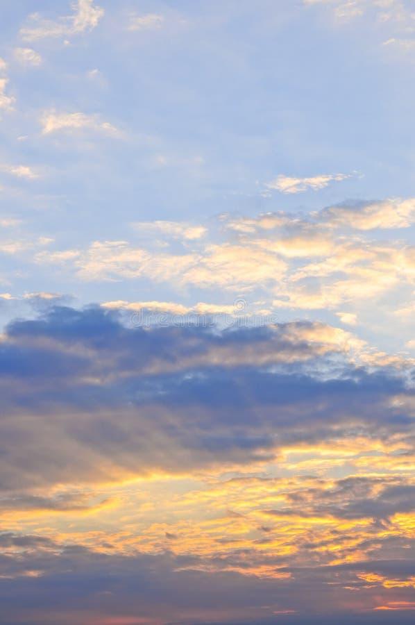 заход солнца неба стоковое фото rf