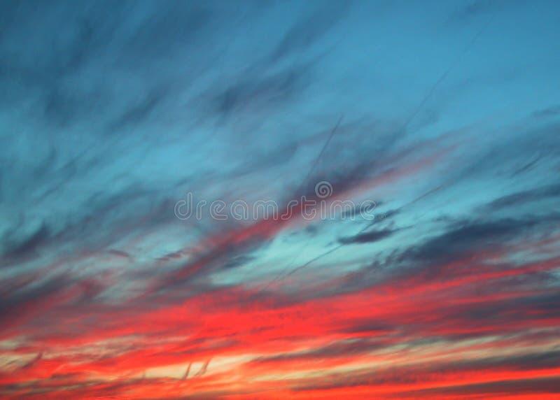 заход солнца неба стоковое изображение rf