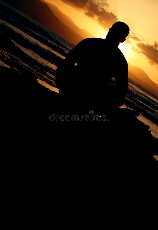 заход солнца няни стоковая фотография rf