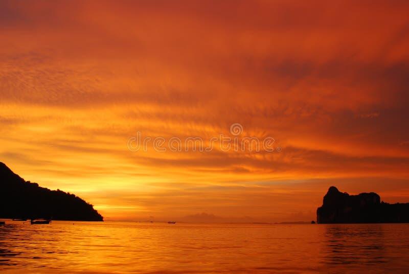 заход солнца острова последний стоковые фото
