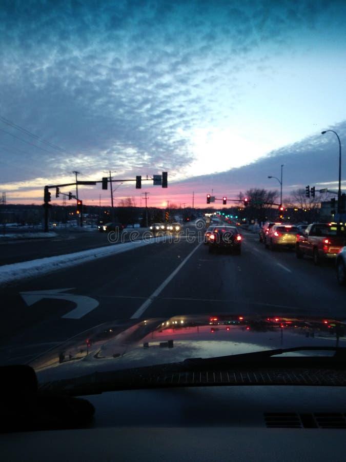 Заход солнца отражает стоковая фотография rf