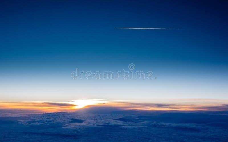 Заход солнца от арены стоковое фото