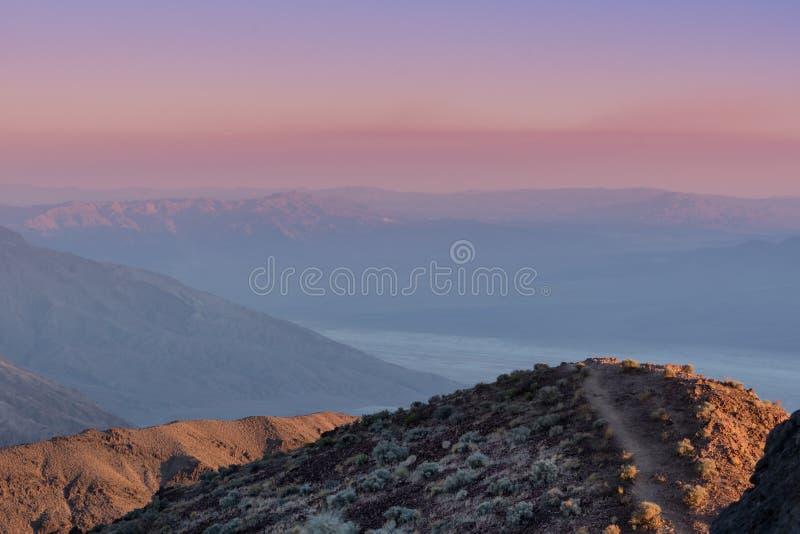 Заход солнца от взгляда ` s Dante стоковые фото