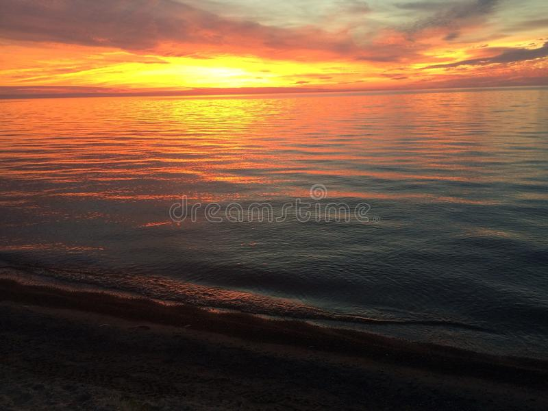 Заход солнца 3 пляжа стоковые изображения rf