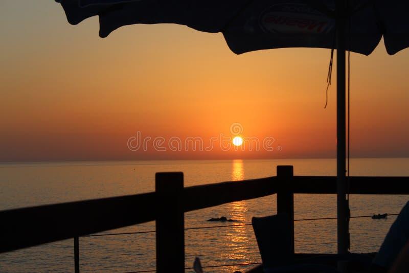 Заход солнца Португалии в острове Мадейры стоковые изображения
