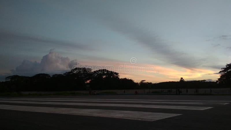 Заход солнца природы стоковое изображение rf