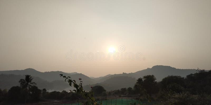 Заход солнца природы стоковое фото
