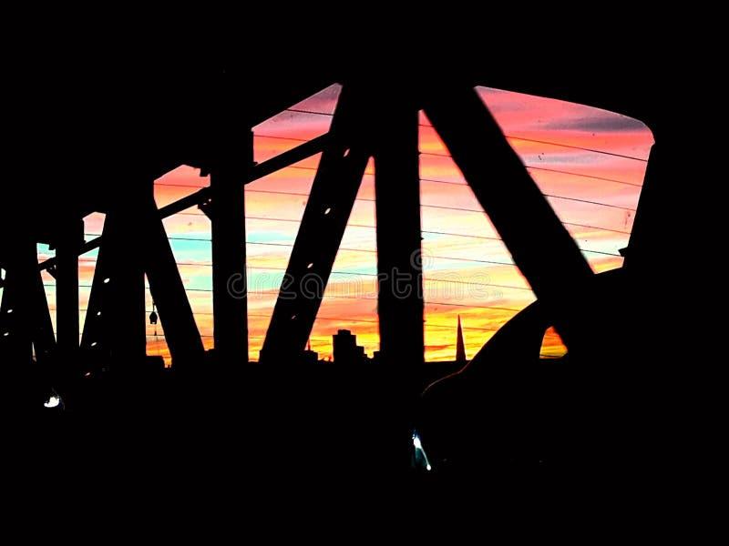 Заход солнца Сан-Франциско стоковая фотография rf
