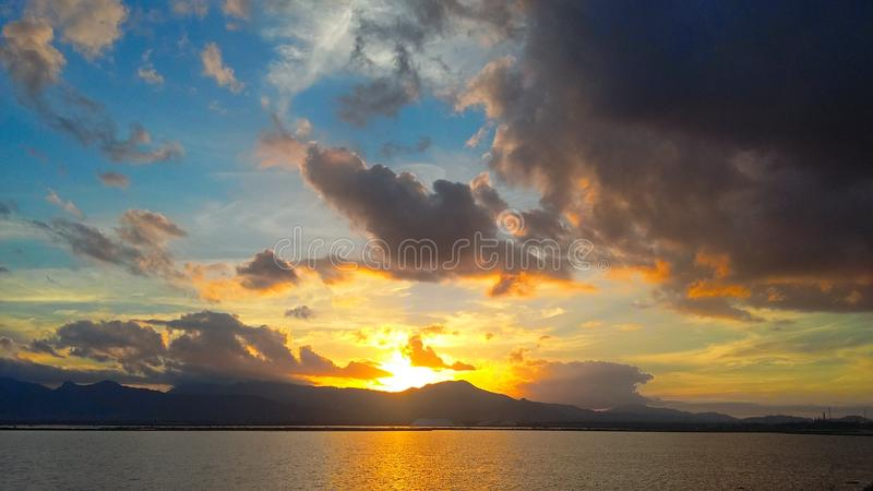 заход солнца Сардинии стоковое изображение rf