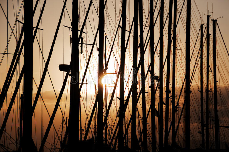 заход солнца Сардинии стоковая фотография rf