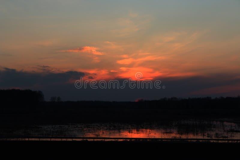 заход солнца Сибиря стоковое фото