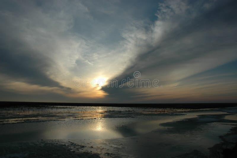 заход солнца солнца стоковое изображение