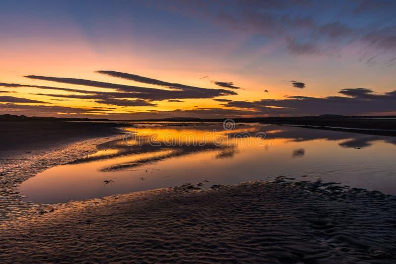 Заход солнца стренги Beale стоковые фотографии rf