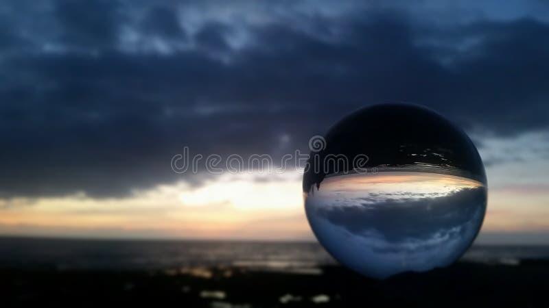 Заход солнца Тенерифе стоковое изображение