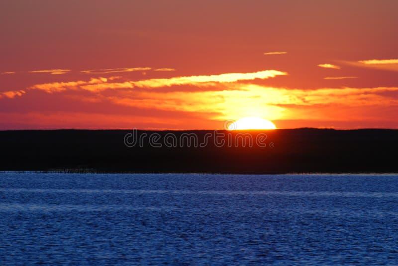 заход солнца теплый стоковое фото rf