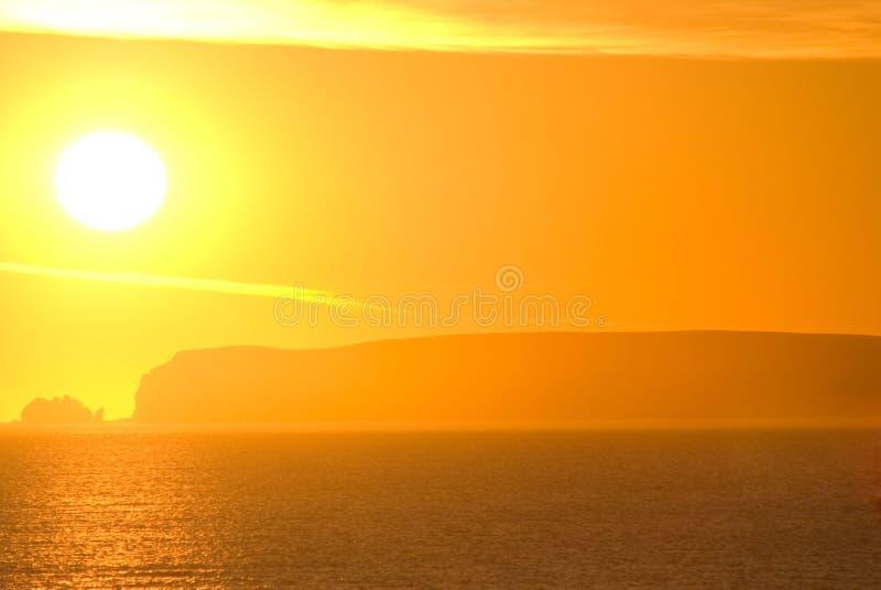 заход солнца теплый стоковые изображения rf