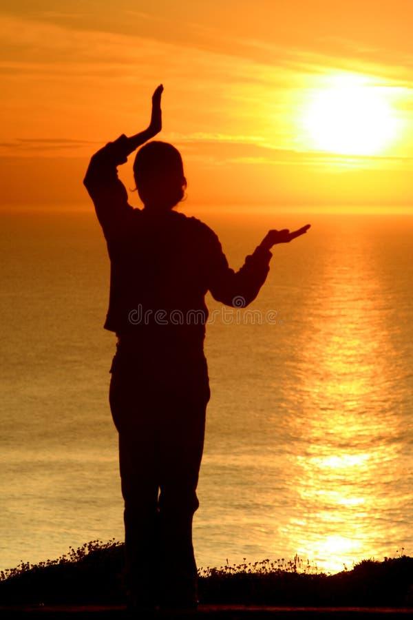 заход солнца хиа тайский стоковое фото rf