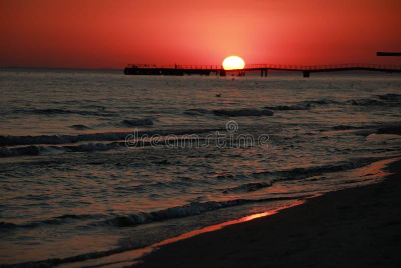Заход солнца черное море Вертел Kinburn Красивейшее небо стоковые фотографии rf